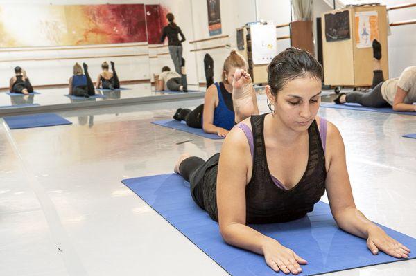 photographie archive d'un cours de Pilates